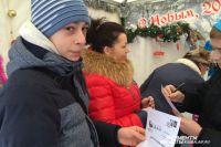 Очередь к почтовому домику Деда Мороза в Краснодаре.