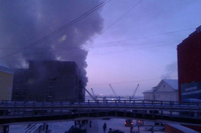 Пожар в мэрии Дудинки.