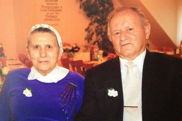 Яков Матис с супругой.