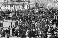 Первомайский праздник в Миассе в 1917 г.