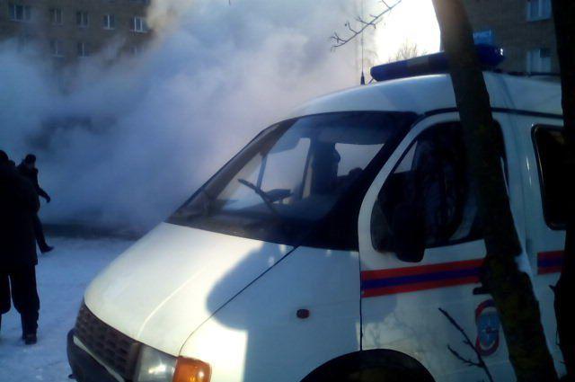 В Бердске устраняют прорыв на теплотрассе.