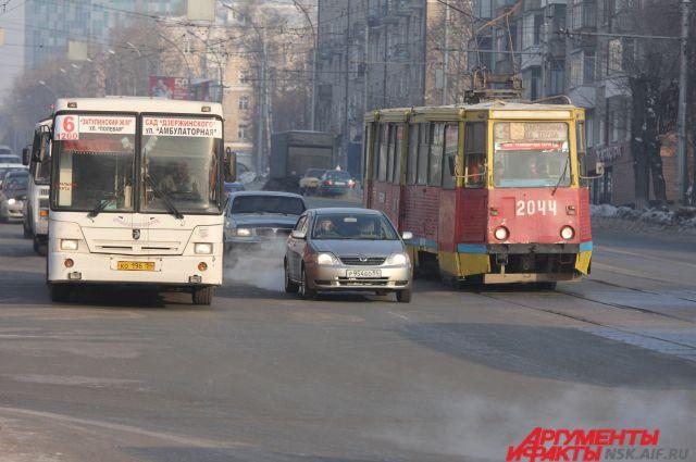 Трамвай загорелся на ходу.
