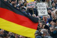 Антимиграционный митинг в Кёльне.