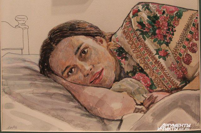 Портрет Сабины на холсте в интерпретации из кинофильма о ней.