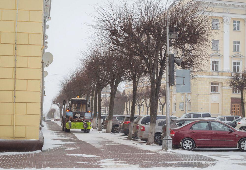 В Смоленской области за ночь выпало до 10 см снега.