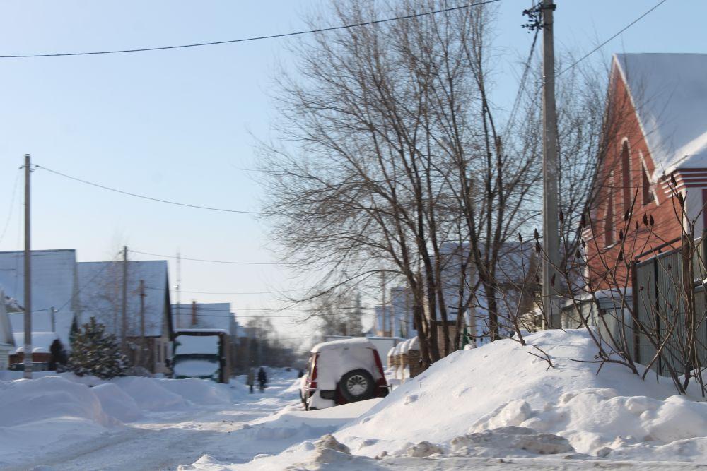 Занесенный снегом Оренбург.