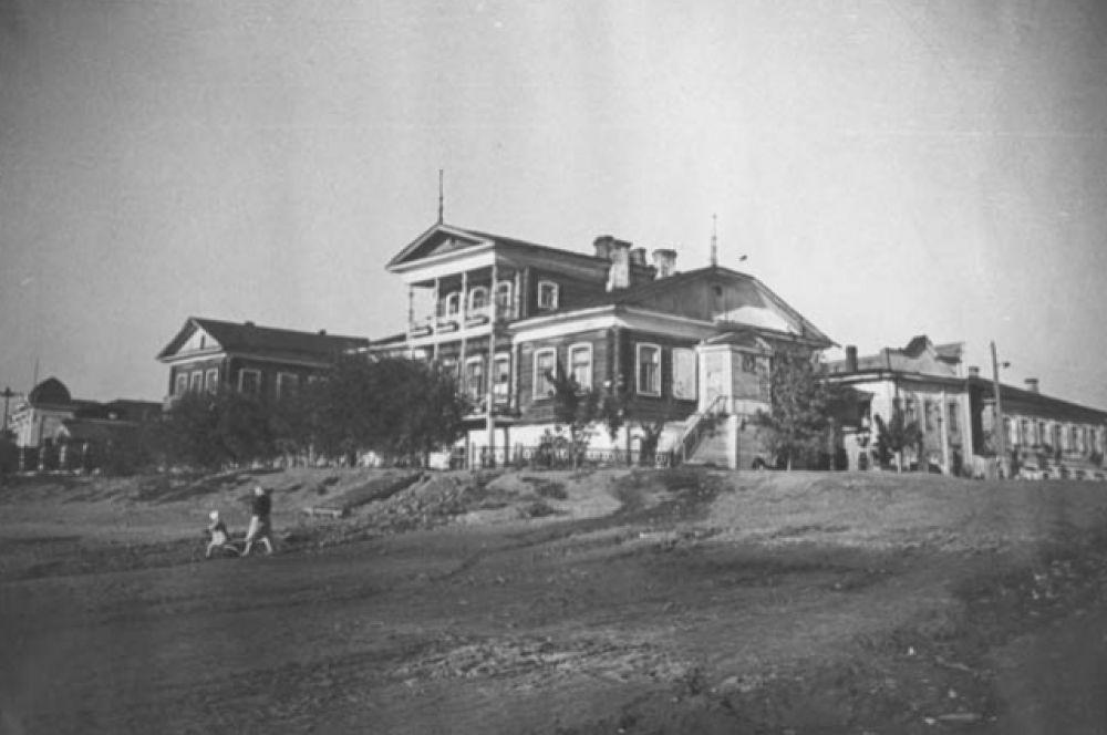 Вид с берега Иртыша, 1920 год.