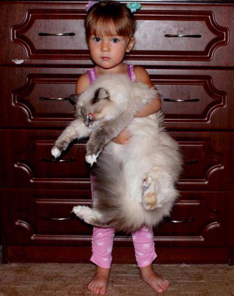 Кошка Маша с хозяйкой Сашей