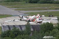 Обломки польского ТУ-154 на аэродроме Северный в Смоленске. Фото из архива.