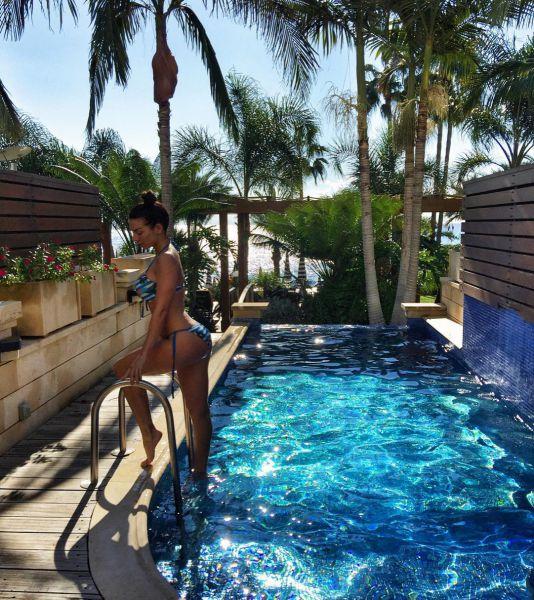 Анна Седовака всей семьей выбралась на отдых в Мексику