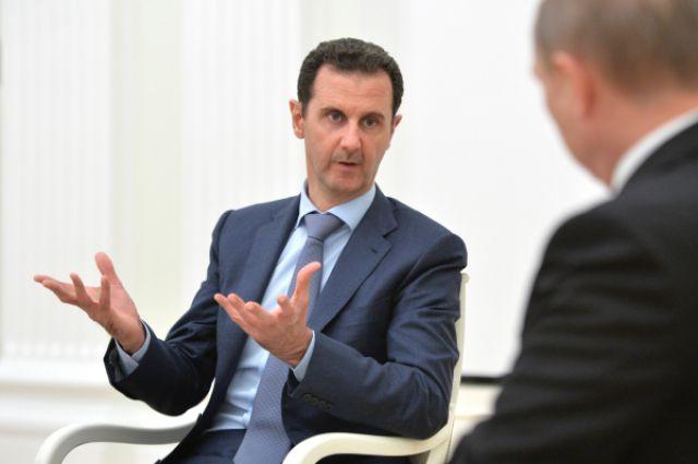 Башар Асад на встрече с Владимиром Путиным