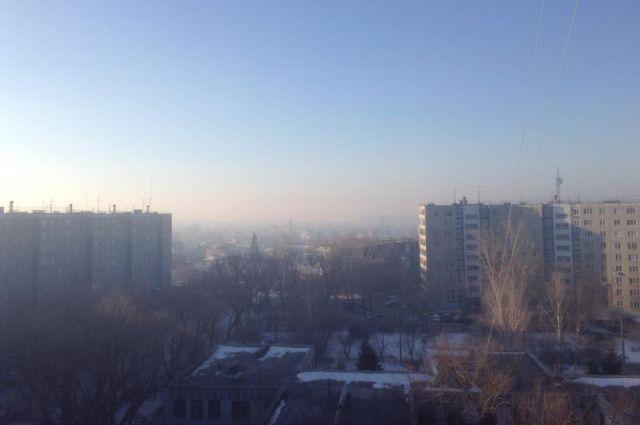 Морозная дымка становится смогом