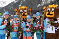 Женская сборная России по биатлону.