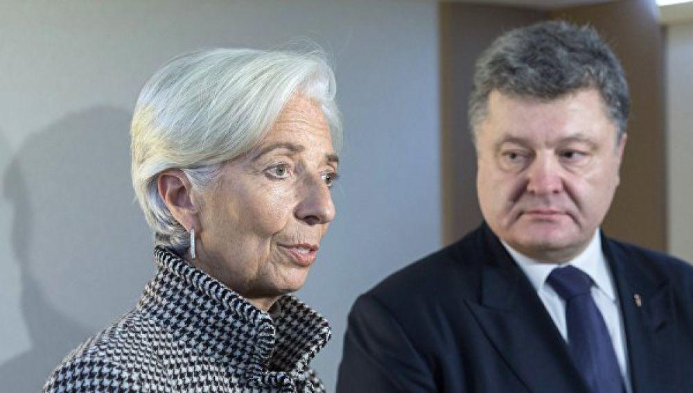Президент Украины и глава МВФ