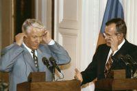 Президент России Борис Ельцин и президент США Джордж Буш. Июнь 1992 года.