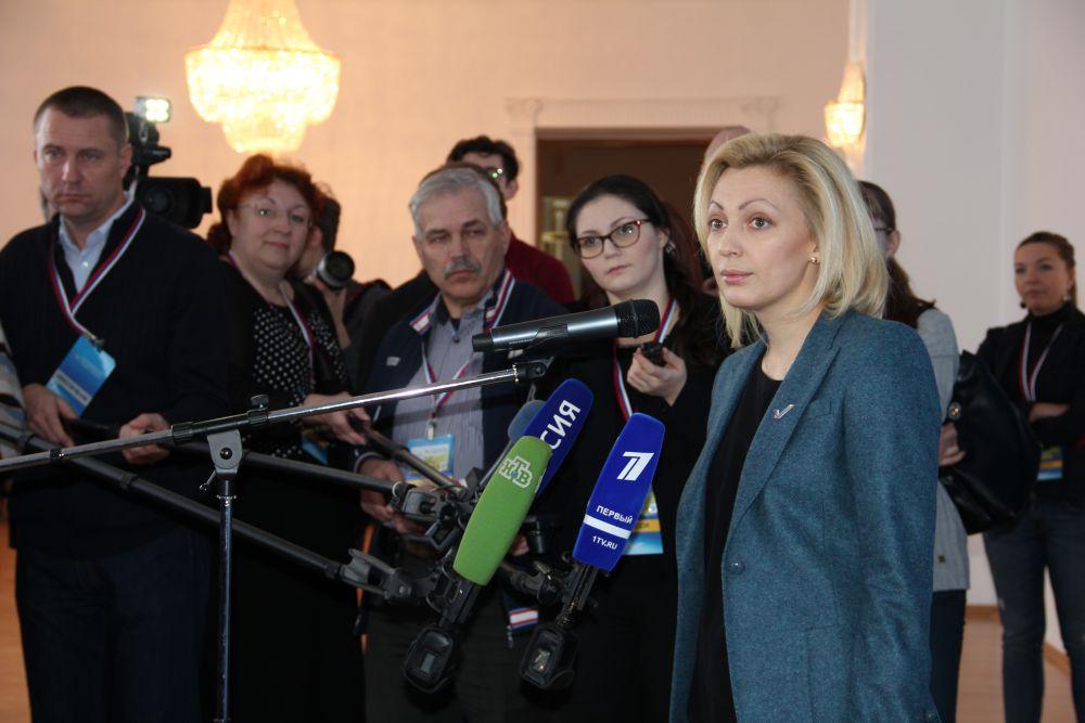 Сопредседатель Центрального штаба ОНФ Ольга Тимофеева.