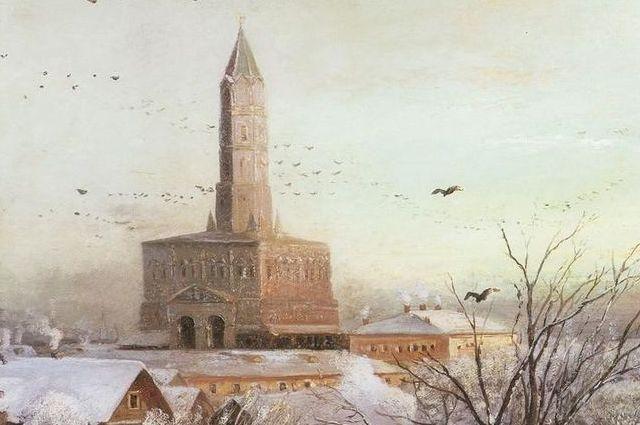 А. К. Саврасов. Сухарева башня. 1872