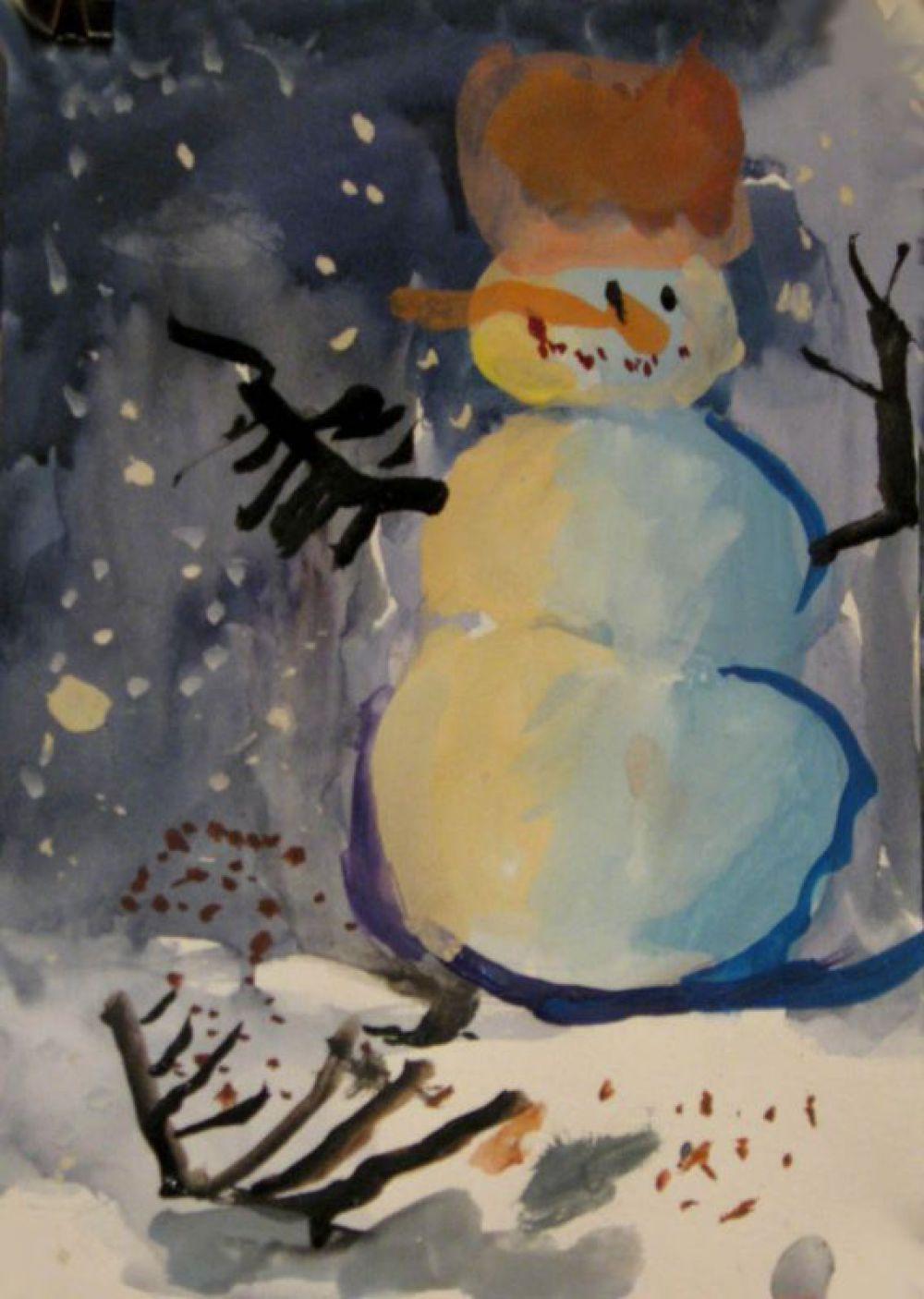 Снеговик. Лиза, 4 года.