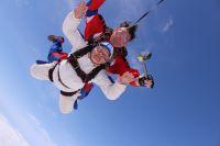 Мария Денисовна прыгнула с парашютом с высоты 3 км.
