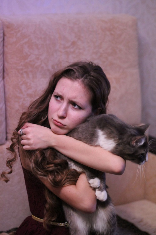 Кот Басилиандр с хозяйкой