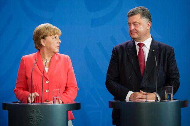 Вначале рабочей недели Порошенко встретится сМеркель