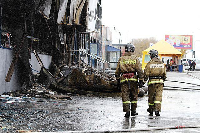 Пожарные быстро справились с огнём.