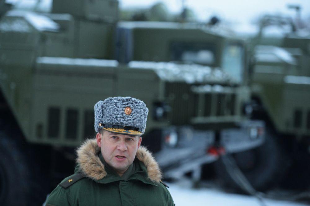 Командующий первой армией ПВО генерал-майор Андрей Дёмин.