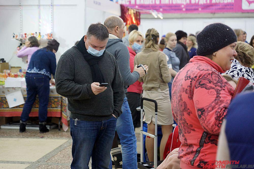 Из-за эпидемии гриппа для пермяков предоставляются защитные медицинские маски.
