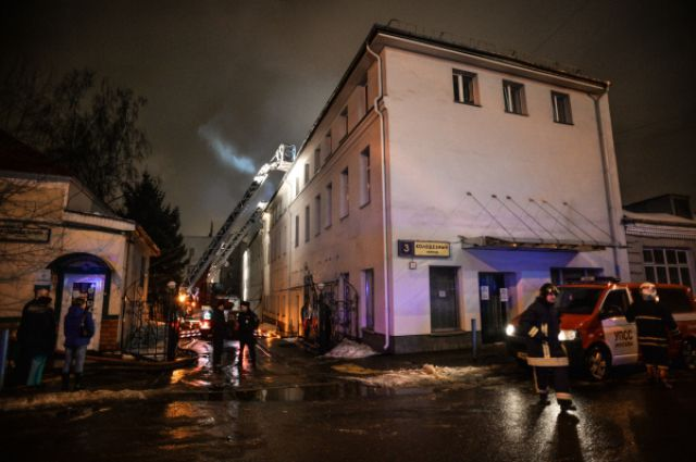 пожар в швейном цехе, Москва