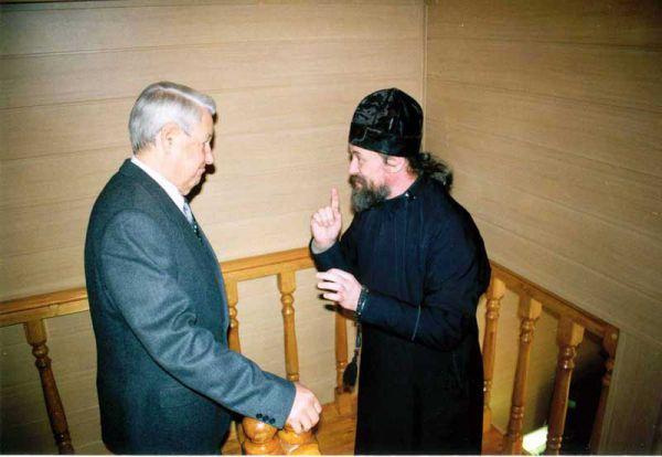Ельцин в Раифском монастыре, 2002 год