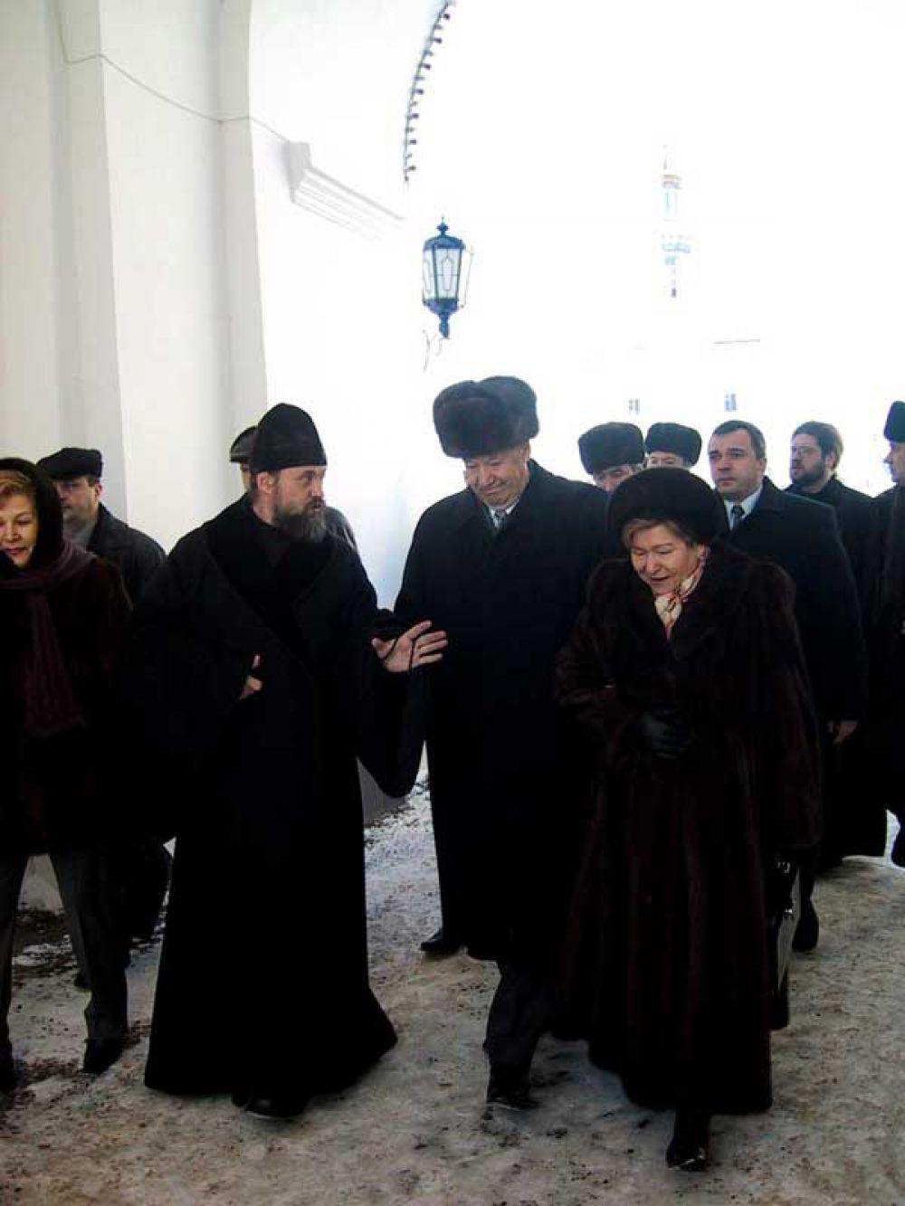 Ельцин с Наиной Иосифовной в Раифе в середине декабря 2002 года