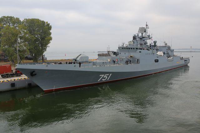 Сторожевой корабль «Адмирал Эссен» для ВМФ РФ готовится к первому выходу в море.