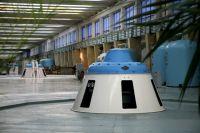 Машинный зал Саратовской ГЭС.