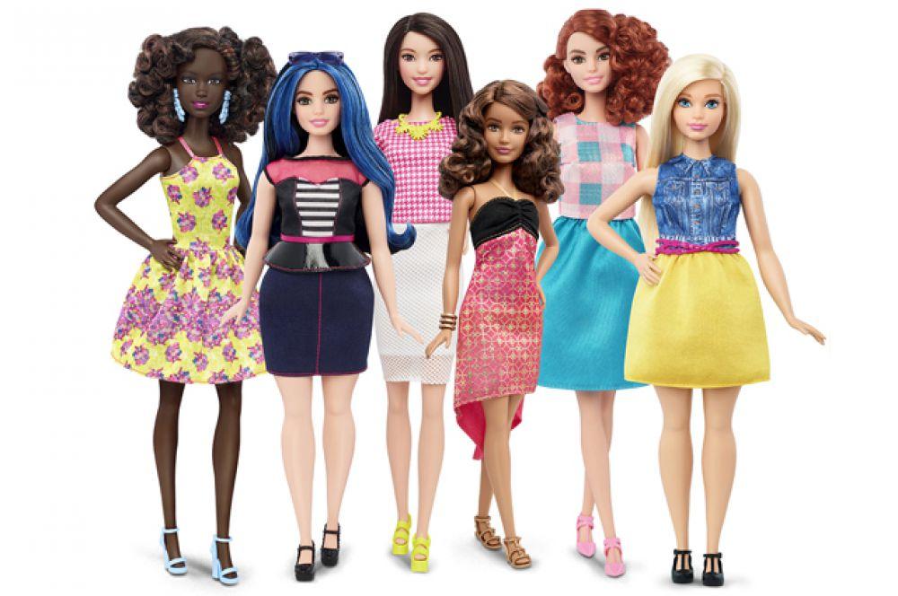 Наконец, начиная с января 2016 года, Барби будет иметь разные тела. Так выглядят новые куклы, которые представила компания Mattel.