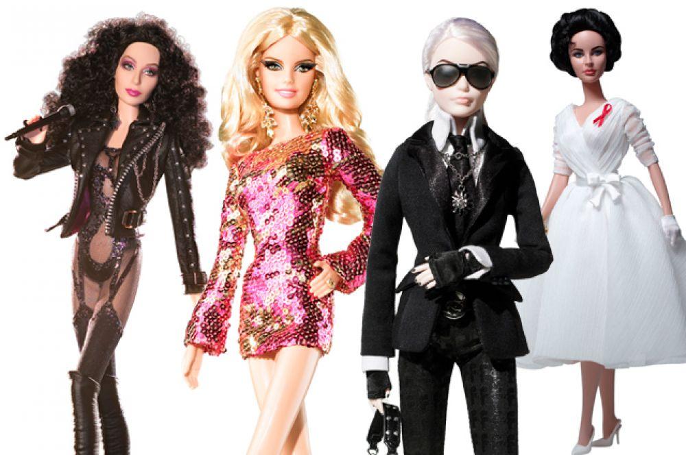 Начиная с конца 1980-x Mattel выпускает отдельные коллекционные серии Барби. Куклы из таких серий не предназначены для игры: наряды для них создаются именитыми дизайнерами, и стоят такие куклы очень дорого. В разное время выпускались Барби в образе певицы Шер, Хайди Клум, Карла Лагерфельда и Элизабет Тейлор.