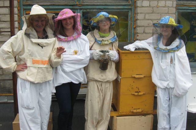 Ученики школы № 132 два года изучают пчёл на учебной пасеке.