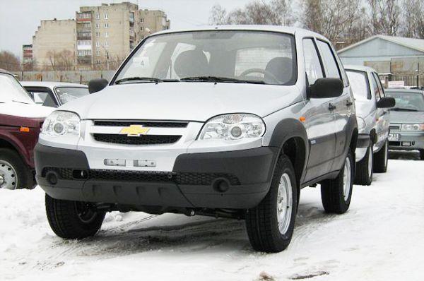Chevrolet Niva также лидирует в восьми регионах.