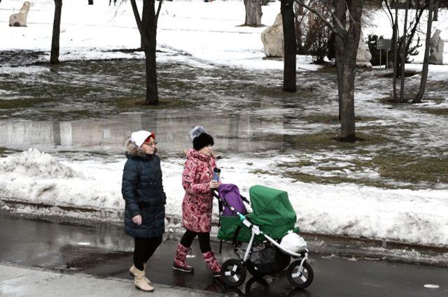 Оттепель в Москве.