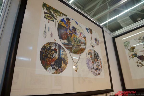 Художник Пётр Фролов привезёт новые работы из полюбившейся пермякам серии «Азбука». В сказочном мире каждой из его картин разместится 43 предмета, которые начинаются на разные буквы алфавита.