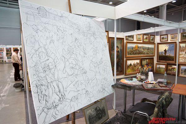 В течение выставки на стендах в режиме «non-stop» художники на глазах зрителей будут создавать произведения искусства.
