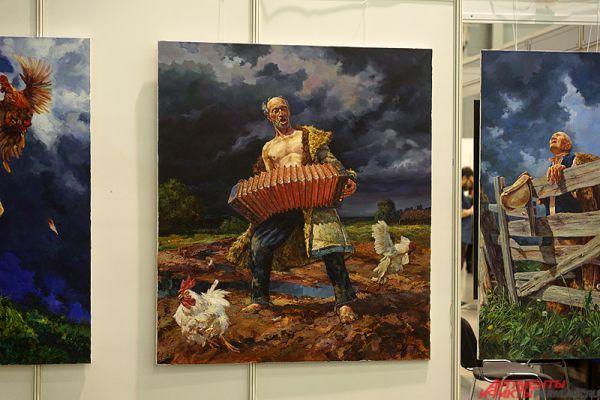 Казанские художники занимают немаловажную часть в выставочном салоне.