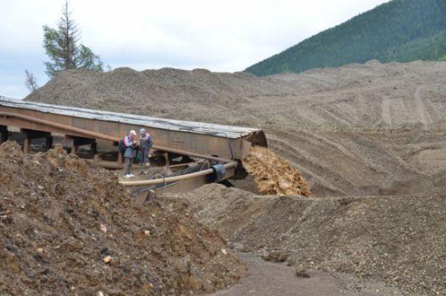 Добыча золота в Мотыгинском районе.