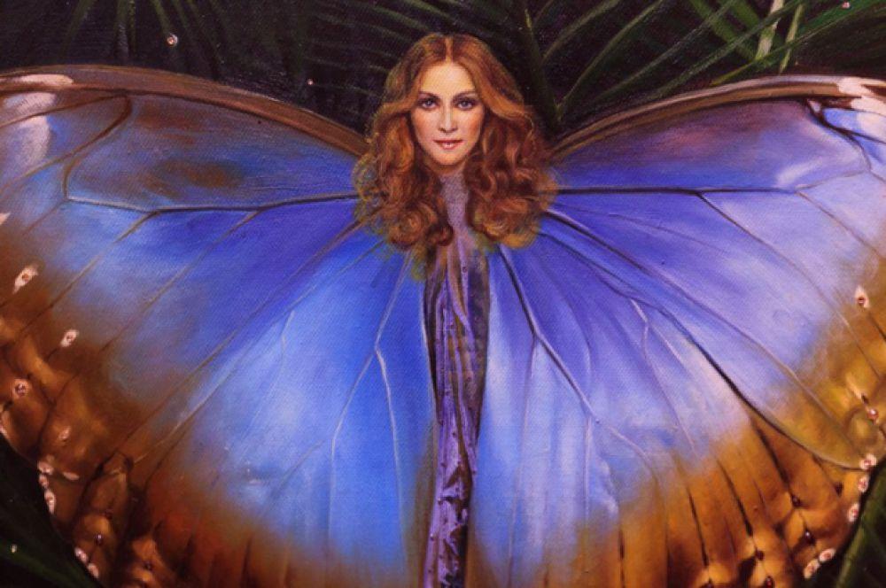 Один из портретов художника «Мадонна, как бабочка».