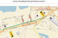 ГИБДД опубликовало схему объезда закрытого моста на Суворова в Калининграде.