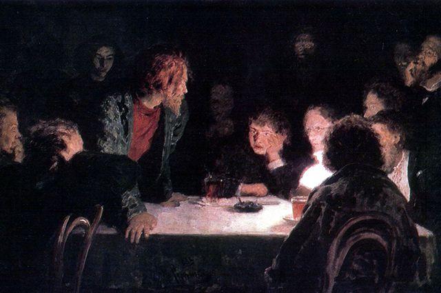 «Тайное собрание», Илья Репин, 1883 г.
