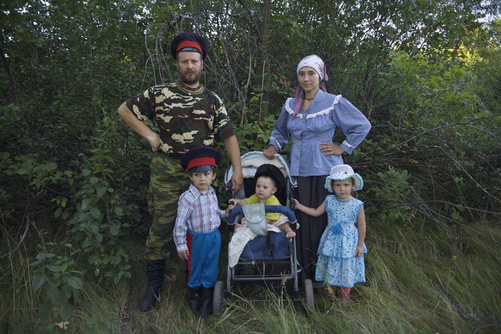 Традиционная казачья семья, живущая по старинному укладу. Фестиваль казачьей культуры «Золотой щит – казачий Спас»
