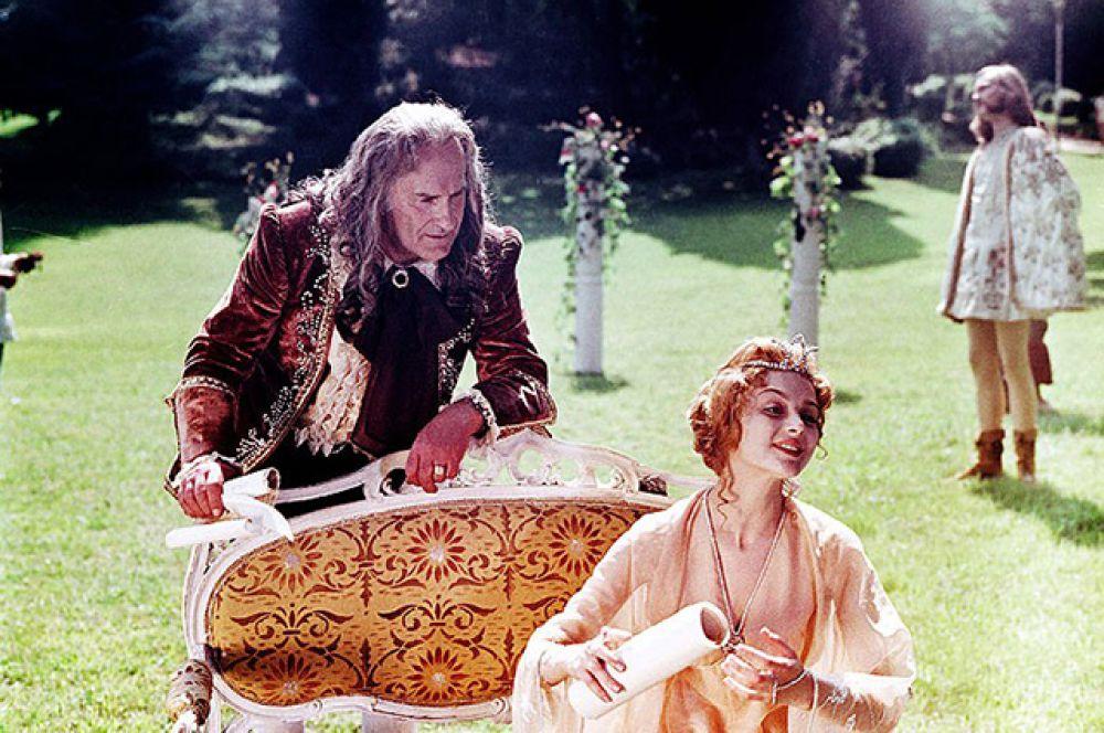 С Ириной Малышевой в фильме «Принцесса на горошине», 1976 год.