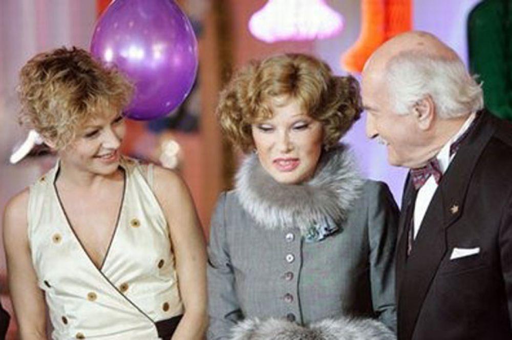 С Аленой Бабенко и Людмилой Гурченко в фильме «Карнавальная ночь-2, или 50 лет спустя», 2007 год.