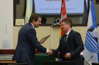 Договор о спонсорстве подписали генеральный директор ФК «Балтика» Вениамин Вожжов и генеральный директор управляющей компании Дмитрий Савенков.