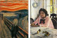 «Крик» и «Девочка с персиками».